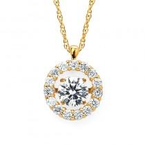 Shimmering Diamonds® Circle Pendant SD14P71/.75