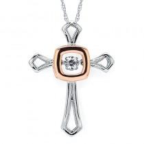 Shimmering Diamonds® Square Cross Pendant SD15P19