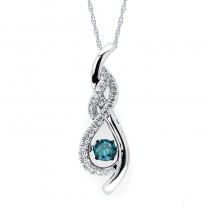 Shimmering Diamonds® Twisted Tear Drop Pendant SD15P30BL