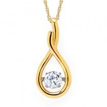 Shimmering Diamonds® Tear Drop Pendant SD15P78/.50