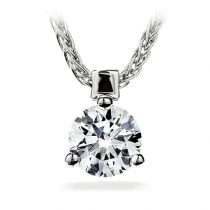 Three Prong Solitaire Pendant