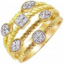 Dabakarov Diamond Fashion Ring in 14kt Yellow Gold (1/4ct tw)