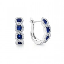 Leave It To Fate Sapphire and Diamond Hoop Earrings