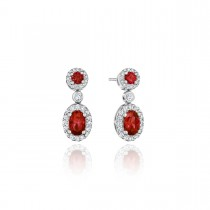 Set the Scene Ruby and Diamond Dangle Earrings