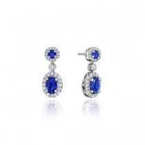 Set the Scene Sapphire and Diamond Dangle Earrings