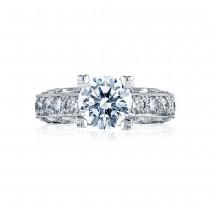 HT2530A Platinum Tacori Classic Crescent Engagement Ring