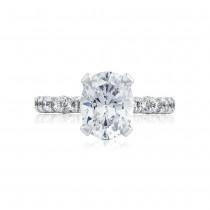 Tacori HT254525OV95X75 Platinum Ladies Petite Crescent Engagement Ring