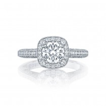 Tacori HT2550CU65 Platinum Classic Crescent Engagement Ring