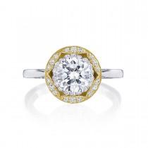 Tacori HT2569RD7Y 18 Karat Two-Tone Crescent Chandelier Engagement Ring