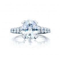 Tacori HT2623OV10X8 Platinum RoyalT Engagement Ring