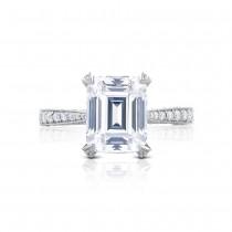 HT2626EC10X8 Platinum Tacori RoyalT Engagement Ring