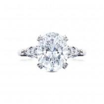 HT2628OV11X9 Platinum Tacori RoyalT Engagement Ring