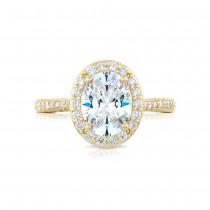 Tacori HT2652OV9X7Y 18 Karat RoyalT Engagement Ring