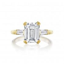 Tacori HT2657EC95X75Y 18 Karat RoyalT Engagement Ring