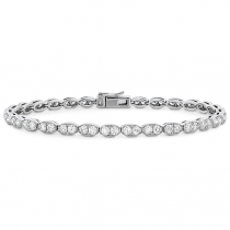 Lorelei Floral Diamond Line Bracelet - L