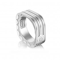 Square Racing Lines Ring