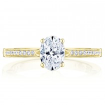 Tacori P102OV7X5FY 14 Karat Coastal Crescent Engagement Ring