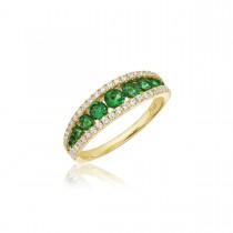 Walk This Way Emerald and Diamond Ring