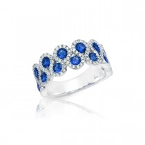 Melody of the Heart Sapphire and Diamond Wave Ring