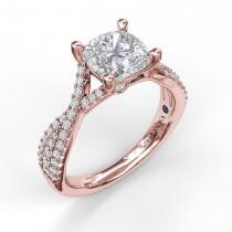Twist Diamond Engagement Ring
