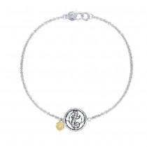 Pavé Monogram Chain Bracelet SB196T