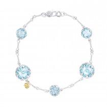 Multi Gem Chain Bracelet featuring Sky Blue Topaz