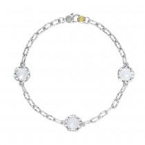 Triple Gem Bracelet featuring Chalcedony