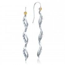 Triple Petite Wavelet Line Earrings