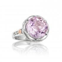 Crescent Gem Ring featuring Rose Amethyst
