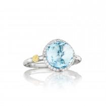 Pavé Simply Gem Ring featuring Sky Blue Topaz