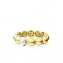 Dew Droplets Ring in Yellow Gold