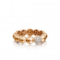 Pavé Dew Droplets Ring in Rose Gold with Diamonds