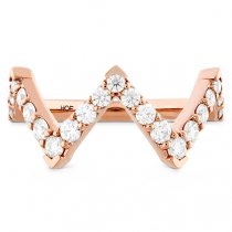 Triplicity Pointed Diamond Ring