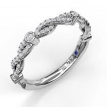 Twist Band with Diamond Bezel Stations