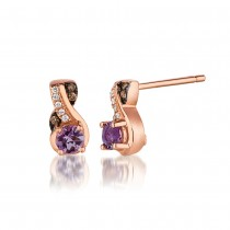 Le Vian 14K Strawberry Gold® Cotton Candy Amethyst Earring WIZD 13
