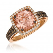Le Vian 14K Strawberry Gold® Peach Morganite Ring YQWG 17