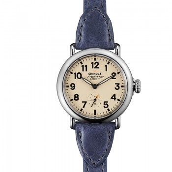 THE RUNWELL 36mm TRIPLE WRAP LEATHER STRAP WATCH