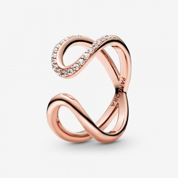 Wrapped Open Infinity Ring