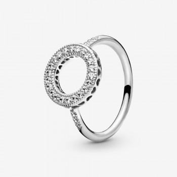 Sparkling Halo Ring