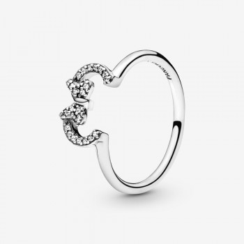 Disney Minnie Mouse Ears Silhouette Puzzle Ring