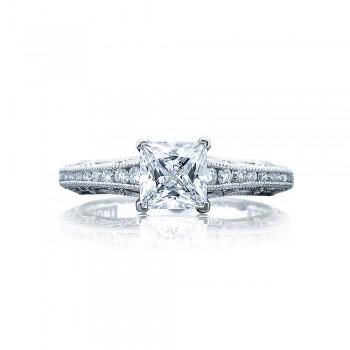 Tacori 2617PR55 Platinum Reverse Crescent Engagement Ring