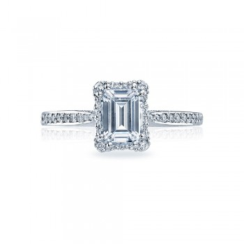 Tacori Platinum Dantela Engagement Ring 2620ECSMP