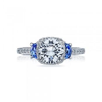 Tacori Dantela Platinum Engagement Ring 2628RDSP