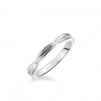 Solitude Contemporary Polished Twist Wedding Band
