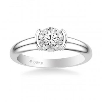 Rachel Contemporary Solitaire Bezel Diamond Engagement Ring