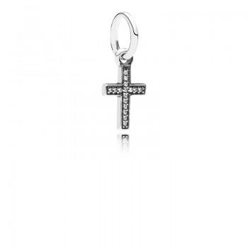 Sparkling Cross Dangle Charm
