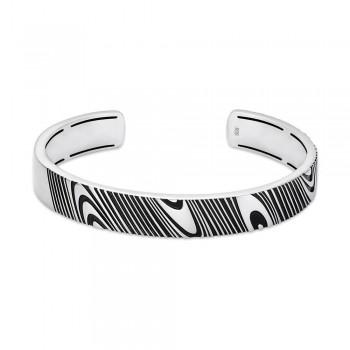 Rogue 10mm Satin-Finish Silver Bracelet