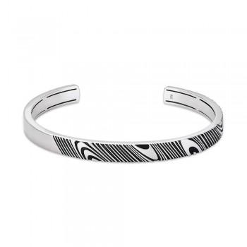 Rogue 7mm Satin-Finish Silver Bracelet