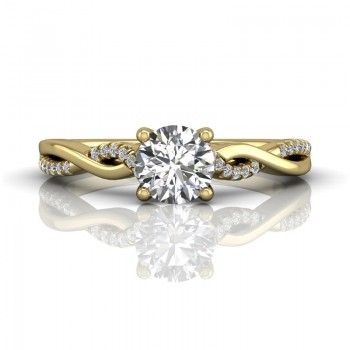 Martin Flyer FlyerFit Solitaire 14k Yellow Gold Cut Down Engagement Ring DERM39XSYQ-D-5.7RD
