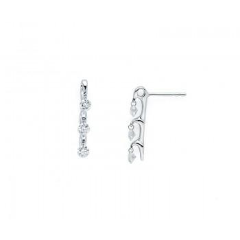 Shimmering Diamonds® Trellis Bar Earrings G7585/.75
